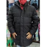 Casaco Masculino Sobretudo Para Inverno Ziper Capuz Jaqueta
