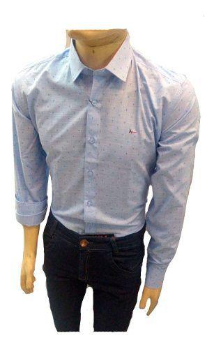 Camisa Social Slin Masculina Manga Longa Camiseta