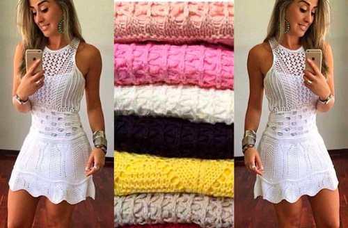 Vestido Dondoca Tricô Tricot Regato Blogueira Instagram Alça