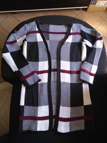 Kimono Casaco Feminino Xadrez manga longa grosso