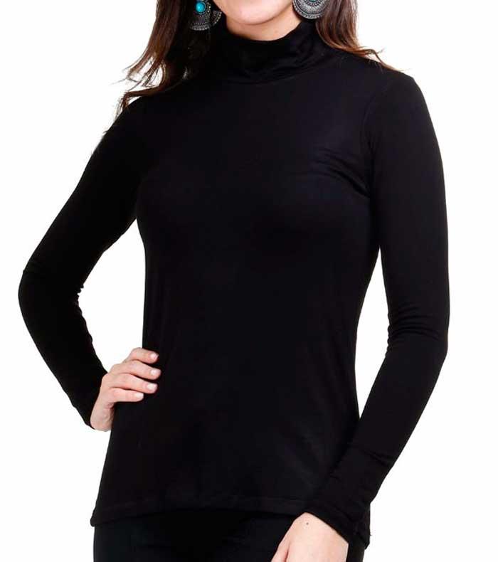 blusa Cacharrel feminina gola alta segunda pele