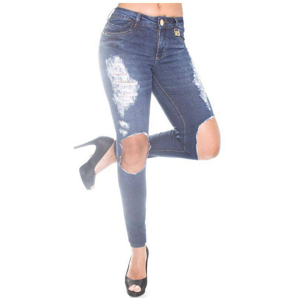 Calça Feminina Jeans Canal Da Mancha