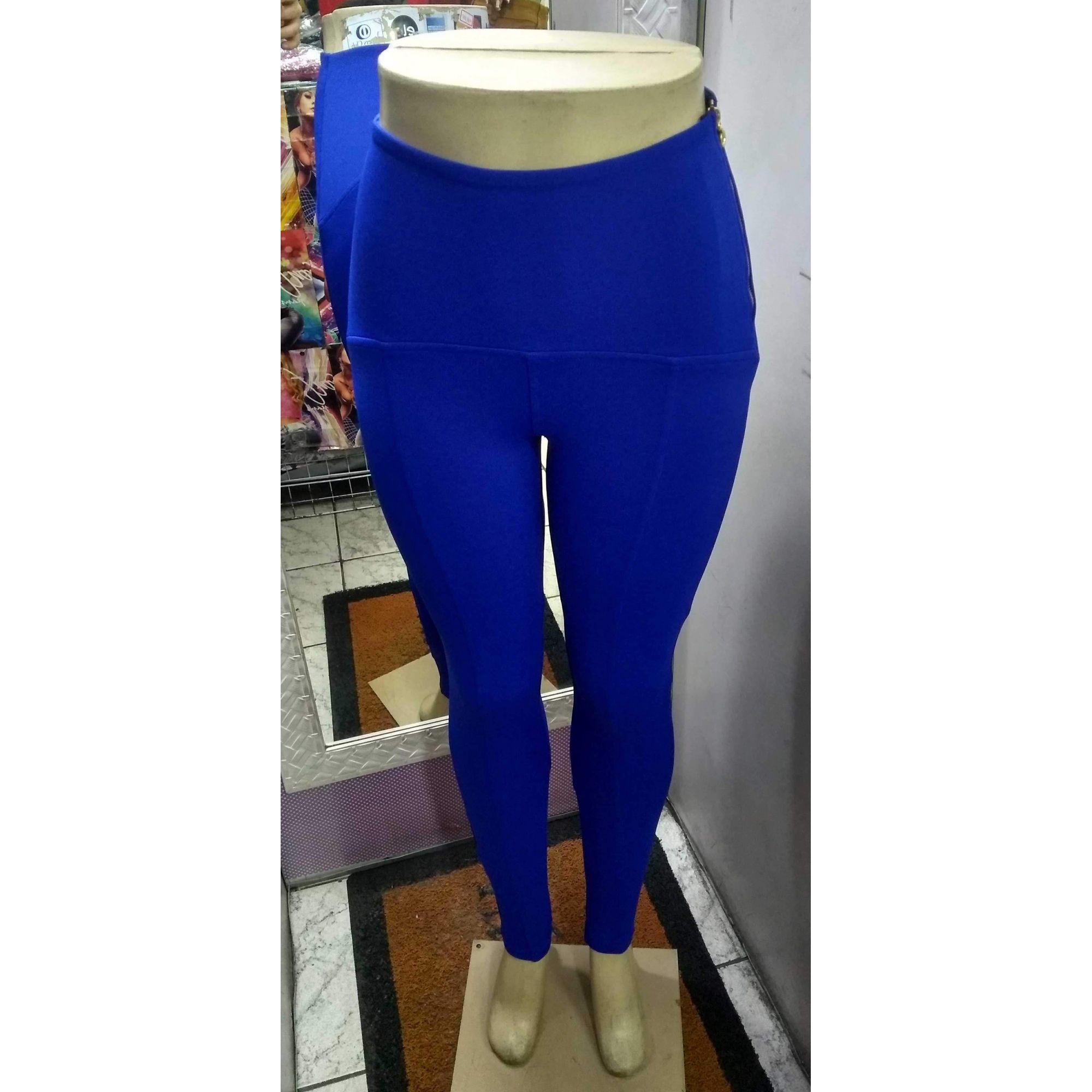 Calça Feminina Legging Cintura Alta Ponto Roma Não Marca e Modela