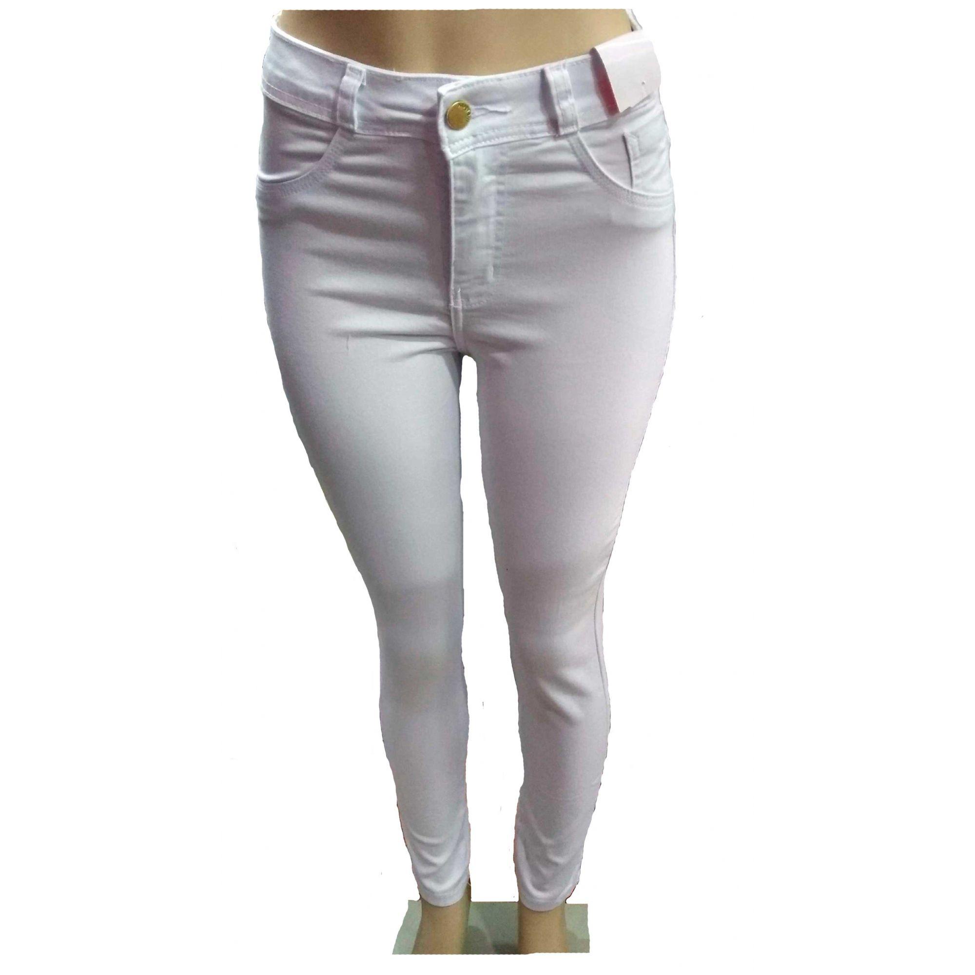 Calça Jeans Feminina Meitrix Cintura Alta Lycra