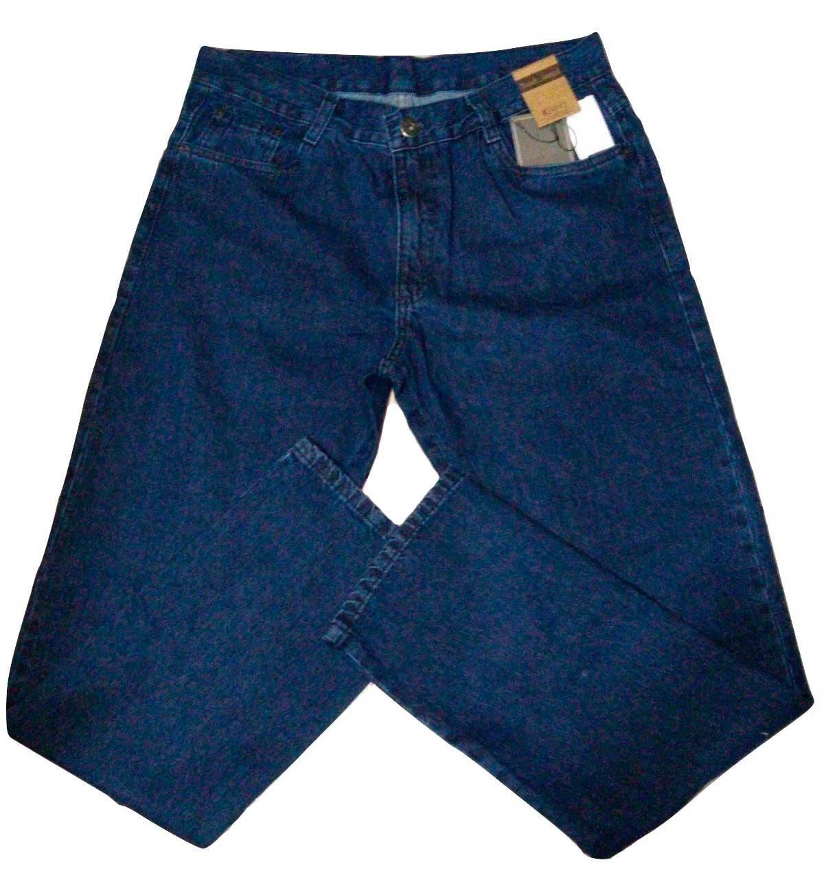 Calça Masculina Jeans corte reto barra Tradicional