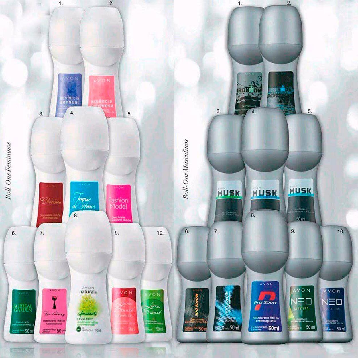 Desodorante Roll-on Masculino Ou Feminino Avon 3 unidades