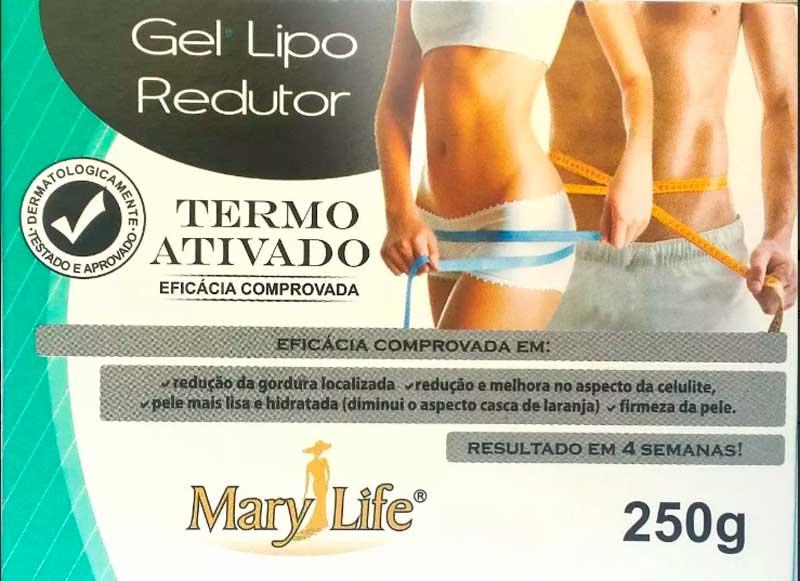 Gel Emagrecedor Lipo Redutor Pote 250g Mary Life