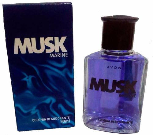 Kit Colônia Musk Marine E Fresh Avon 90ml