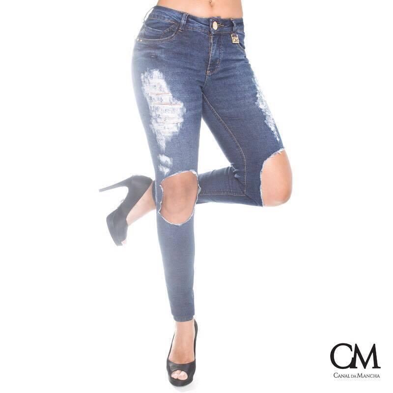 Kit Duas Calça Jeans Feminina Canal Da Mancha Vários Modelos