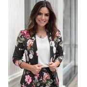 Blazer Camila Crepe Floral 3% Elastano