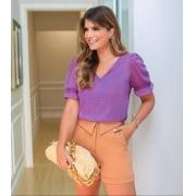 Blusa Ariane Com Detalhe Renda Decote +Regata