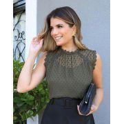 Blusa Ariane Detalhe em Renda + Regata