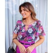 Blusa Camila Crepe Floral