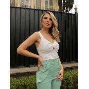 Blusa Croopped Hit Laise  Com Detalhe Torcido