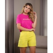 T-shirt Esmeral Cropped Paradise