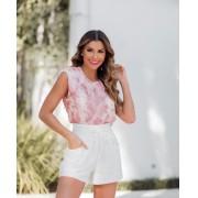 Blusa Daiane Tie Dye Com Ombreira Acompanha Mascara