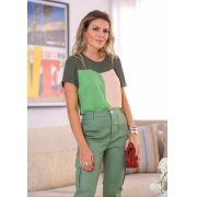 Blusa Debora Crepe Tricolor