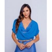 Blusa Esmeral Cropped 4% Elastano DetalheTranspassada ( Não Acompanha Top)