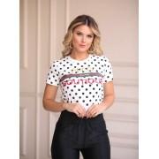 T-shirt Gucci Poa Manga Curta Com Bridao