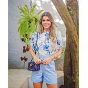 Blusa Heloisa  Crepe Floral  MG Princesa