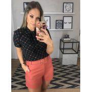Blusa Juliana Crepe Print Laço