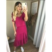 Blusa Lorena Crepe Manga Bufante