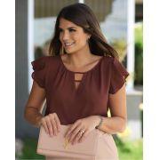 Blusa Luciana Crepe Detalhe Decote