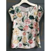 BLUSA LUCIANA CREPE FLORAL OFF