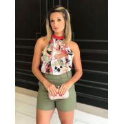 Blusa Manoela Crepe Print