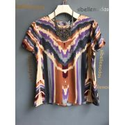 Blusa Marie Crepe Ondas Abstract