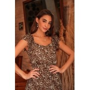 Blusa Monize Animal Print Chiffon