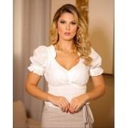 Blusa Morina Laise Romeu com Detalhe Lastex