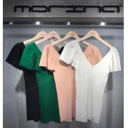 Blusa Morina Tricot Duplo Canelado