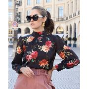 Blusa Nicole Crepe Floral