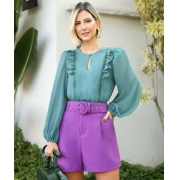 Blusa Patricia Crepe Detalhe Rennda