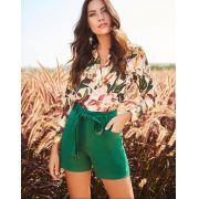 Blusa Valentina Crepe Floral