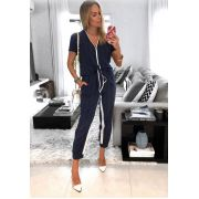 Calça Daniela Linho Maquinetado  Bicolor(44%algodão,30%linho,26% viscose)