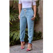 Calça Hit jeans Jogger Estilo Cargo