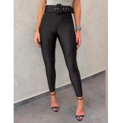 Calça Morina Bordada Power Skinny Cinto