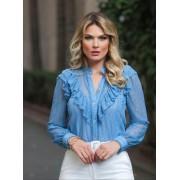 Camisa Betania Renda + Regata Azul