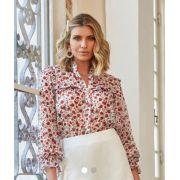 Camisa  Betina Crepe floral  MG Longa + Regata
