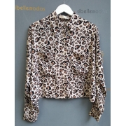 Camisa Catena Viscose Animal Print