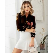 Camisa Elena Crepe Floral