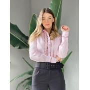 Camisa Hera Tricoline Detalhe Entremeio