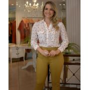 Camisa Jenifer Crepe Póa Estampa Exclusiva