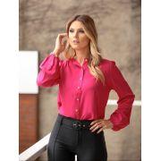 Camisa Lorraine Viscose Botões De Osso