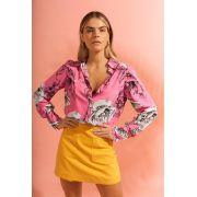 Camisa  Patricia Viscose Manga Longa