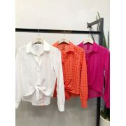 CAMISA TAMIRES LAISE  CORES OFF,  CORAL E PINK