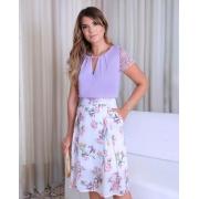 Saia Ariane Midi Floral C/ Pregas
