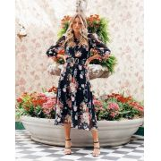 Saia Natalia Crepe Midi Floral